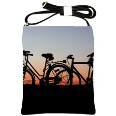 Bicycles Wheel Sunset Love Romance Shoulder Sling Bags by Amaryn4rt