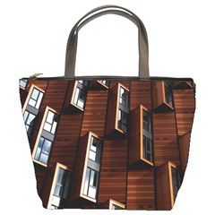 Abstract Architecture Building Business Bucket Bags