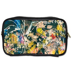 Art Graffiti Abstract Vintage Lines Toiletries Bags by Amaryn4rt