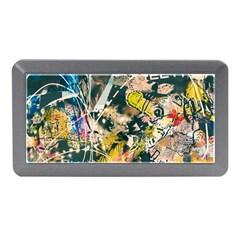 Art Graffiti Abstract Vintage Lines Memory Card Reader (mini)