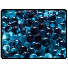 Blue Abstract Balls Spheres Fleece Blanket (large)