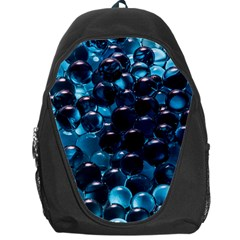 Blue Abstract Balls Spheres Backpack Bag by Amaryn4rt