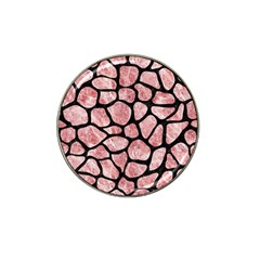 Skin1 Black Marble & Red & White Marble Hat Clip Ball Marker (10 Pack) by trendistuff
