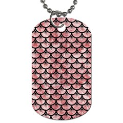 Scales3 Black Marble & Red & White Marble (r) Dog Tag (one Side) by trendistuff