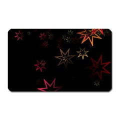 Christmas Background Motif Star Magnet (rectangular) by Amaryn4rt