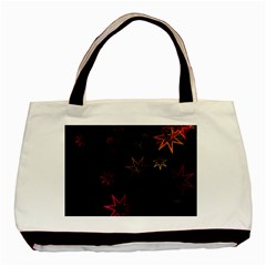 Christmas Background Motif Star Basic Tote Bag (two Sides) by Amaryn4rt