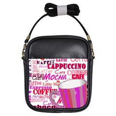 Coffee Cup Lettering Coffee Cup Girls Sling Bags by Amaryn4rt