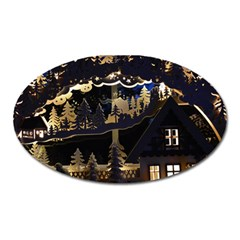 Christmas Advent Candle Arches Oval Magnet by Amaryn4rt