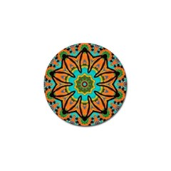 Color Abstract Pattern Structure Golf Ball Marker by Amaryn4rt