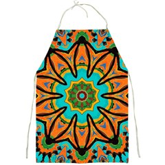 Color Abstract Pattern Structure Full Print Aprons