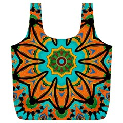 Color Abstract Pattern Structure Full Print Recycle Bags (l)
