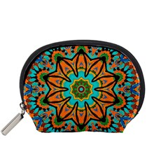 Color Abstract Pattern Structure Accessory Pouches (Small)  by Amaryn4rt