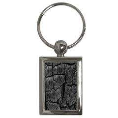 Coal Charred Tree Pore Black Key Chains (rectangle)  by Amaryn4rt
