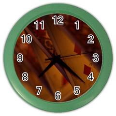 Card Game Mood The Tarot Color Wall Clocks