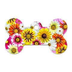 Flowers Blossom Bloom Nature Plant Dog Tag Bone (two Sides)