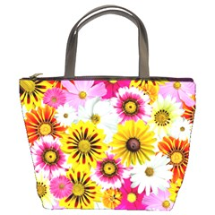 Flowers Blossom Bloom Nature Plant Bucket Bags by Amaryn4rt