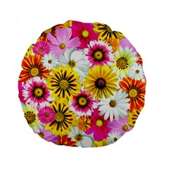 Flowers Blossom Bloom Nature Plant Standard 15  Premium Round Cushions