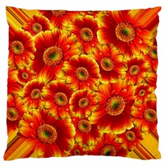 Gerbera Flowers Blossom Bloom Large Cushion Case (one Side) by Amaryn4rt