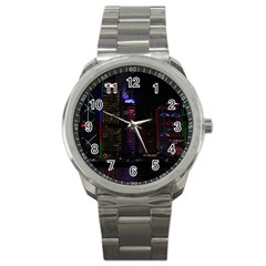 Hong Kong China Asia Skyscraper Sport Metal Watch by Amaryn4rt