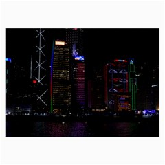 Hong Kong China Asia Skyscraper Large Glasses Cloth (2 Side) by Amaryn4rt