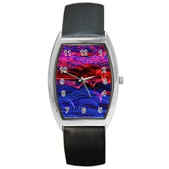 Lights Abstract Curves Long Exposure Barrel Style Metal Watch by Amaryn4rt