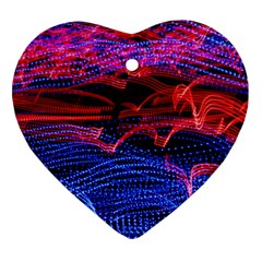 Lights Abstract Curves Long Exposure Heart Ornament (2 Sides) by Amaryn4rt