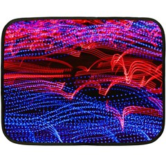 Lights Abstract Curves Long Exposure Double Sided Fleece Blanket (mini)  by Amaryn4rt