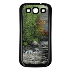 Landscape Summer Fall Colors Mill Samsung Galaxy S3 Back Case (black) by Amaryn4rt