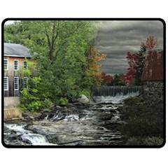 Landscape Summer Fall Colors Mill Double Sided Fleece Blanket (medium)  by Amaryn4rt