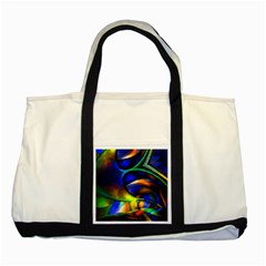 Light Texture Abstract Background Two Tone Tote Bag by Amaryn4rt