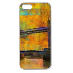 London Tower Abstract Bridge Apple Seamless Iphone 5 Case (clear) by Amaryn4rt