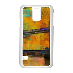 London Tower Abstract Bridge Samsung Galaxy S5 Case (white) by Amaryn4rt