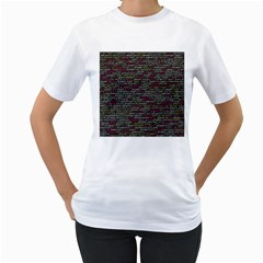 Full Frame Shot Of Abstract Pattern Women s T Shirt (white) (two Sided)
