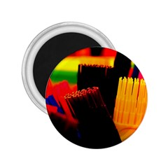 Plastic Brush Color Yellow Red 2 25  Magnets by Amaryn4rt