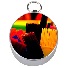 Plastic Brush Color Yellow Red Silver Compasses by Amaryn4rt