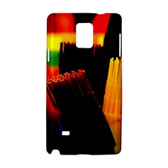 Plastic Brush Color Yellow Red Samsung Galaxy Note 4 Hardshell Case by Amaryn4rt