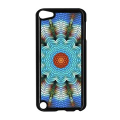 Pattern Blue Brown Background Apple Ipod Touch 5 Case (black) by Amaryn4rt