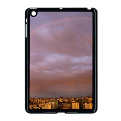 Rain Rainbow Pink Clouds Apple Ipad Mini Case (black) by Amaryn4rt