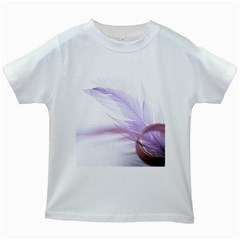 Ring Feather Marriage Pink Gold Kids White T Shirts by Amaryn4rt