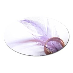 Ring Feather Marriage Pink Gold Oval Magnet by Amaryn4rt