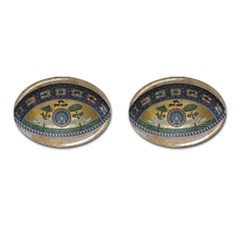 Peace Monument Werder Mountain Cufflinks (oval) by Amaryn4rt