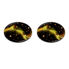 Particles Vibration Line Wave Cufflinks (oval) by Amaryn4rt