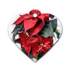 Star Of Bethlehem Star Red Dog Tag Heart (one Side)