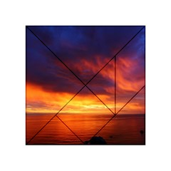 Sunset The Pacific Ocean Evening Acrylic Tangram Puzzle (4  X 4 ) by Amaryn4rt