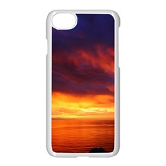 Sunset The Pacific Ocean Evening Apple Iphone 7 Seamless Case (white) by Amaryn4rt