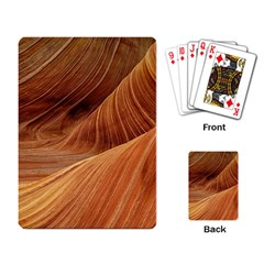 Sandstone The Wave Rock Nature Red Sand Playing Card by Amaryn4rt