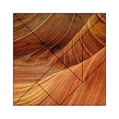 Sandstone The Wave Rock Nature Red Sand Acrylic Tangram Puzzle (6  X 6 ) by Amaryn4rt