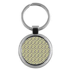 Yellow Washi Tape Tileable Key Chains (round)  by AnjaniArt