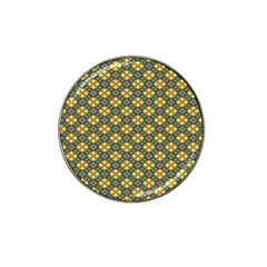 Arabesque Flower Yellow Hat Clip Ball Marker (4 Pack) by AnjaniArt