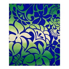 Batik Fabric Flower Shower Curtain 60  X 72  (medium)  by AnjaniArt